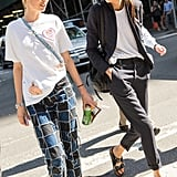 Think Suits Can't Be Casual? Think Again! Dress Yours Down in the Warmer Weather With a T-Shirt and Sandals