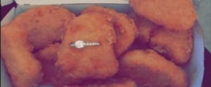 This Smart Man Just Proposed to His Fiancée With a Box of Chicken Nuggets