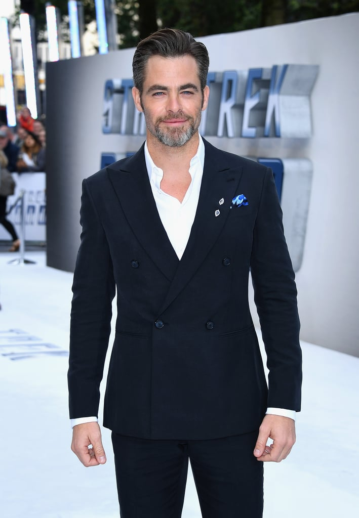 "It's almost as if Chris Pine gets hotter by the day. On Tuesday, the actor drew eyes when he hit the red carpet at the UK premiere of Star Trek Beyond in London. Clad in a double-breasted suit, Chris showed off his smoldering stare as he posed for pictures and greeted fans outside. The film — which hits theaters July 22 and includes a brand-new song from Rihanna called ""Sledgehammer"" — is the third installment of the rebooted franchise and features Star Trek's first gay main character, is played by John Cho. While not everyone is happy about this, John recently told Australia's Herald Sun, ""I liked the approach, which was not to make a big thing out of it, which is where I hope we are going as a species, to not politicize one's personal orientations."" Keep reading to see more of Chris, then check out the movie's final trailer."