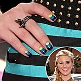 Looks like our Pinterest followers will be trying out this three-part manicure this weekend, as seen on Caroline Sunshine at the Kids' Choice Awards.