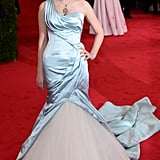 "Bee wore a Cinderella-inspired Alexander McQueen gown to the ""Charles James: Beyond Fashion"" Met Gala in 2014."