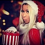 Nicki Minaj dressed up in a sultry Santa suit.