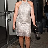 Shimmering in a Jovani Dress and Sophia Webster Heels