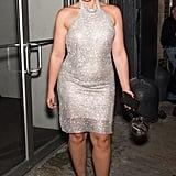 Shimmering in a Jovani Dress and Sophia Webster Heels