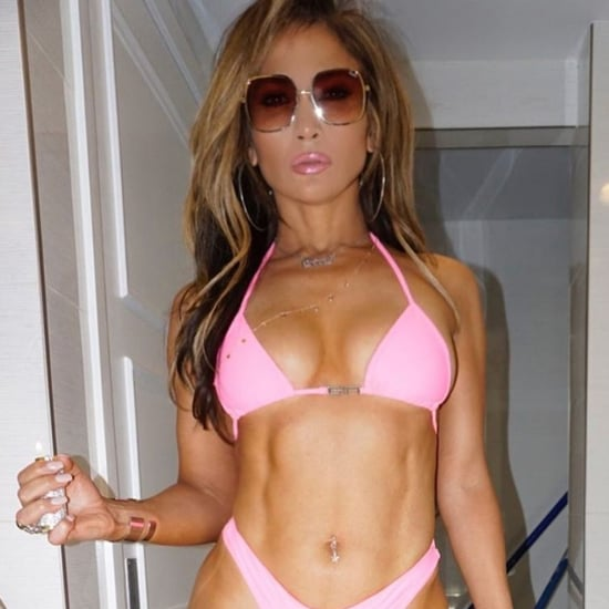 Jennifer Lopez on Set of Hustlers Bikini Picture March 2019