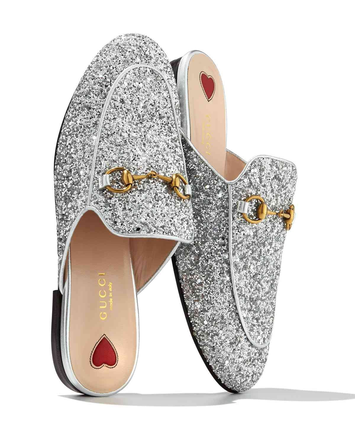 20263973064 Gucci Princetown Glitter Slide Flat | 15 Statement Shoes That Are ...