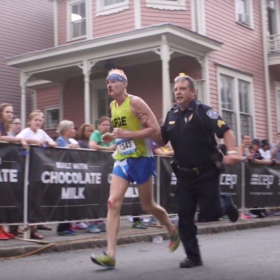 Police Officer Helps Man Finish Half-Marathon
