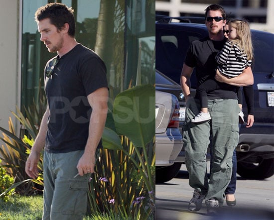 Christian Bale and Family in San Diego
