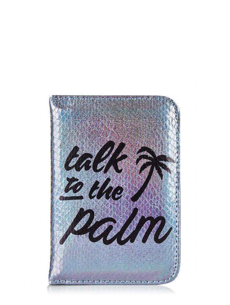 Skinny Dip Palm Shimmer Passport Holder ($16)