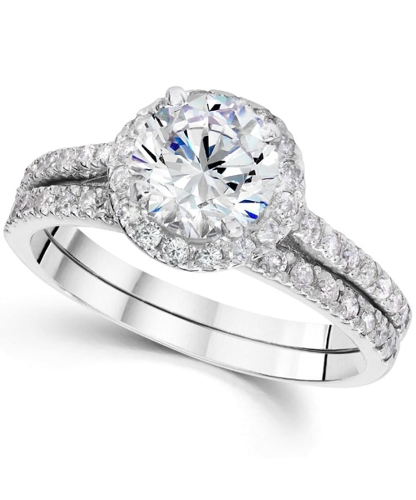 Pompeii3 Halo Round Enhanced Diamond Engagement Ring