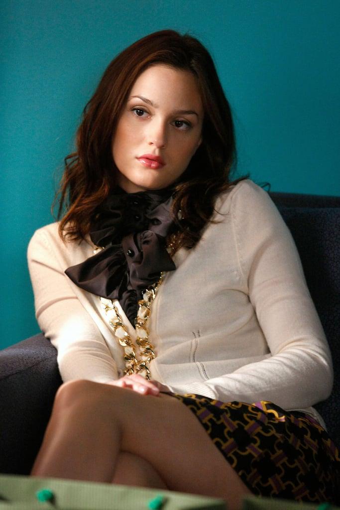 Leighton Meester's Brown Hair on Gossip Girl
