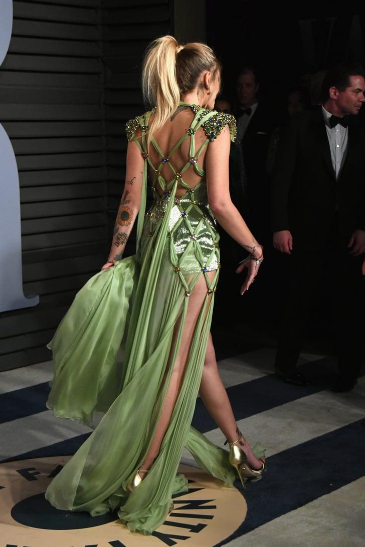 Paris Jackson S Versace Dress At Oscars Afterparty 2018