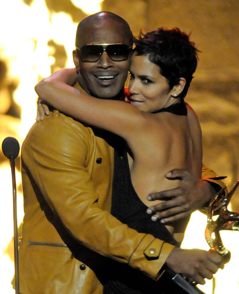 Things got a little steamy for Halle Berry and Jamie Foxx on stage at Spike's Guys Choice Awards in May 2009.
