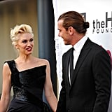 Gwen Stefani and Gavin Rossdale shared a moment before walking the carpet.