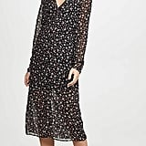 The Fifth Label Current Long-Sleeve Midi Wrap Dress