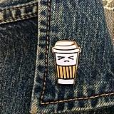 Grumpy Coffee Pin