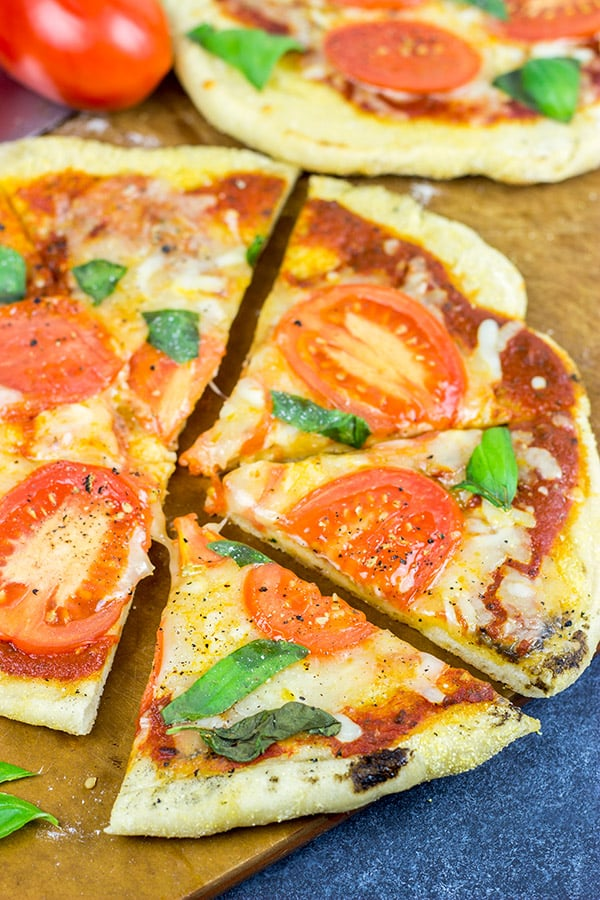 Grilled Tomato Basil Pizza
