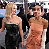 Reese Witherspoon and Zoë Kravitz at the 2020 SAG Awards