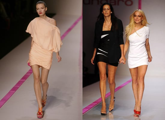 Photos of Lindsay Lohan for Emmanuel Ungaro at Paris Fashion Week Spring 2010