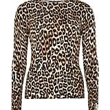 Dorothy Perkins Womens Leopard Print Jumper- Leopard