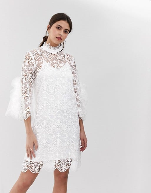 Y.A.S Bridal High Neck Lace Dress