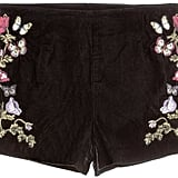 Embroidered Velvet Shorts ($30)