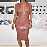 Kim Kardashian Wearing a Plunging Latex Dress in Nashville in 2015