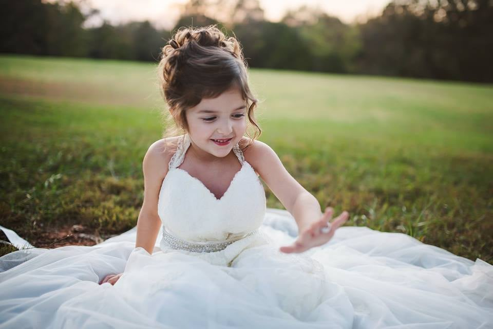 Toddler Wears Late Mom\'s Wedding Dress | POPSUGAR Family Photo 9