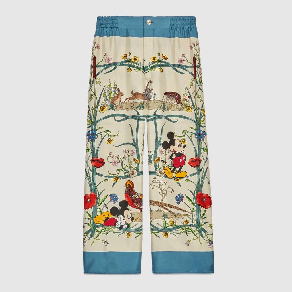 Disney x Gucci Silk Pyjama Trousers