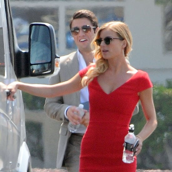 Emily VanCamp and Joshua Bowman Filming Revenge