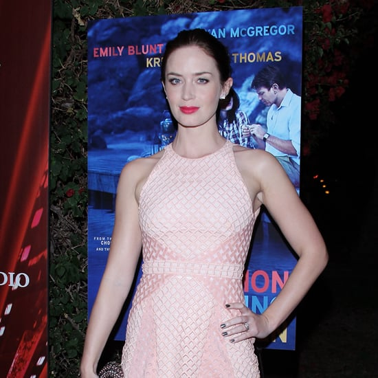 Emily Blunt in Marios Schwab at Palm Springs Film Festival