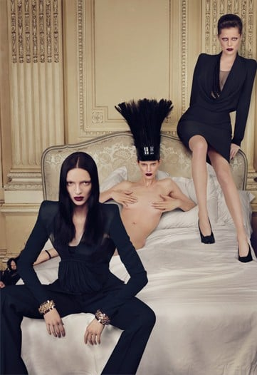 Mariacarla Boscono, Ranya Mordonova, and Iris Strubegger by Mert & Marcus