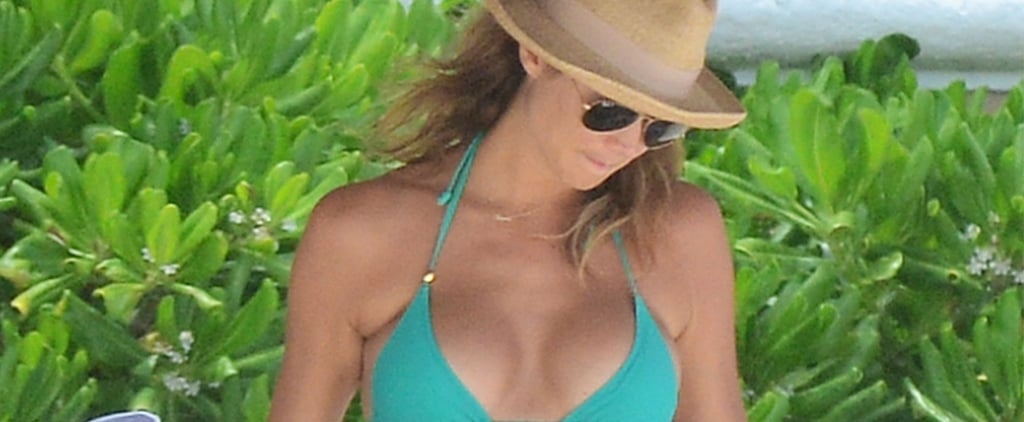 Stacy Keibler's Baby Bump in a Bikini | Pictures