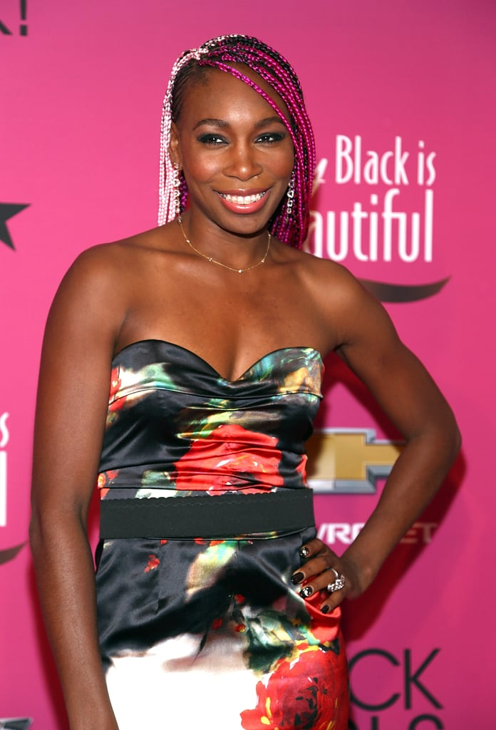 Colourful braids were an incredibly bold and beautiful look for Venus Williams.