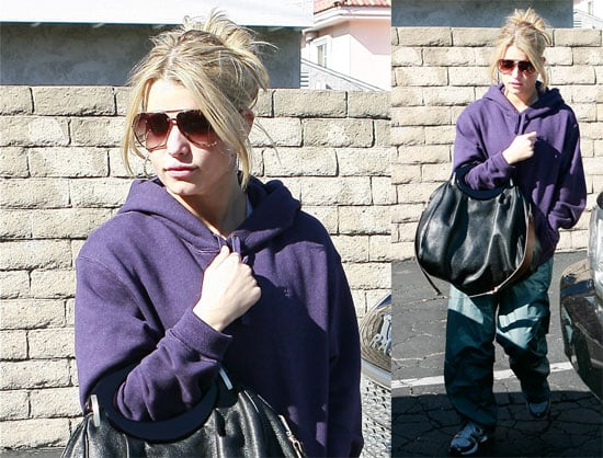 Photos of Jessica Simpson at the Gym in West Hollywood