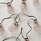 Anthropologie Caged Bulb String Lights ($58)