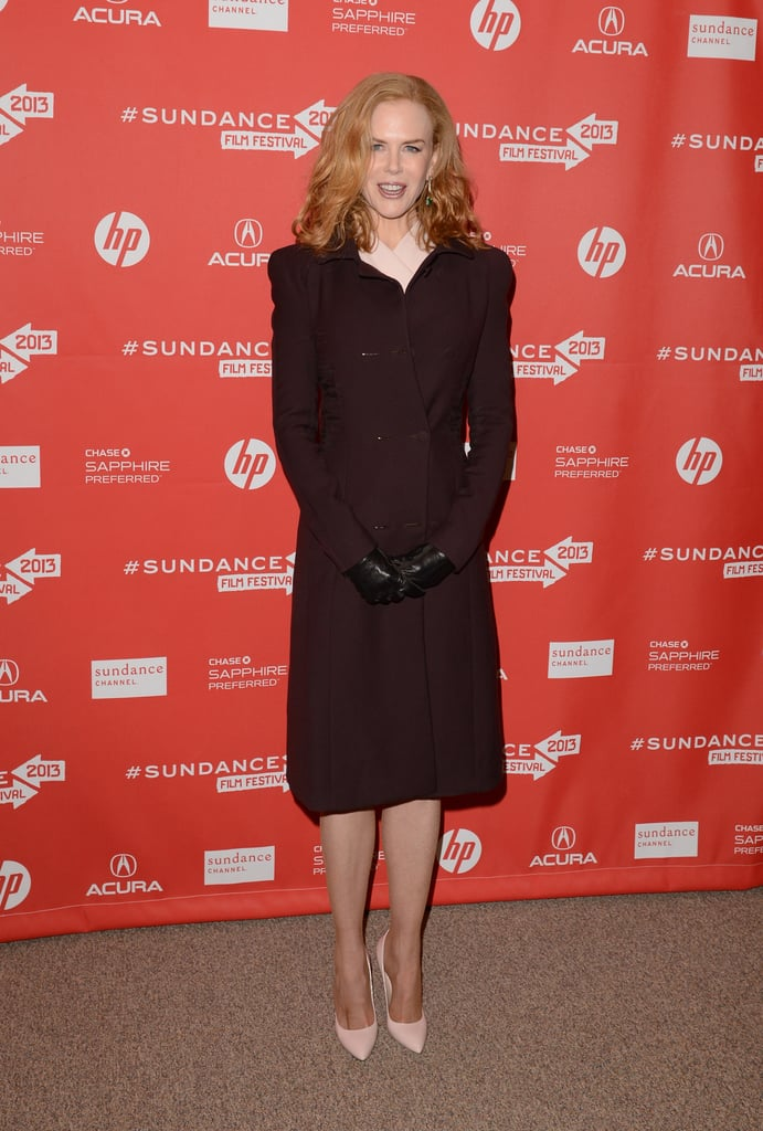 On Sunday, Nicole Kidman showcased her latest film Stoker, a horror-mystery involving unstable family relations.