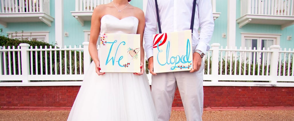 This Sweet Shoot Proves a Disney Elopement Can Be Inexpensive and Subtle