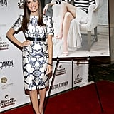 The gorgeous Allison Williams celebrated her Boston Common magazine cover in a sleek, printed Prabal Gurung sheath.