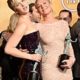 Jennifer Lawrence and Elisabeth Rohm showed off their statues.