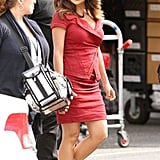 Salma Hayek walked to work.
