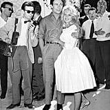 Brigitte Bardot Wore a Casual Gingham Dress as a Bride