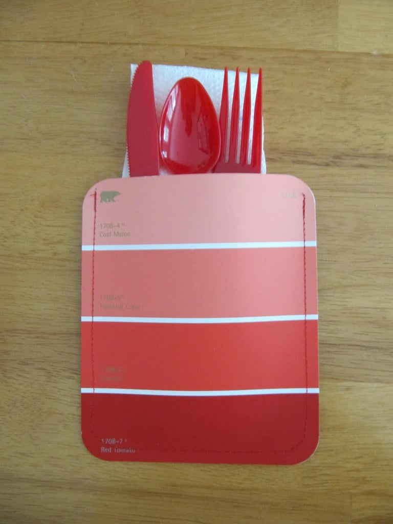 Paint Chip Napkin and Utensil Holder