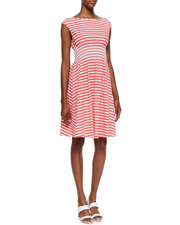 Kate Spade New York Cap Sleeve Striped Dress ($288)