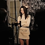 Kendall took a bit of time to talk to the cameras, proving that she works hard to play hard.