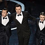 Seth MacFarlane sang with Joseph Gordon-Levitt and Daniel Radcliffe at the Oscars.
