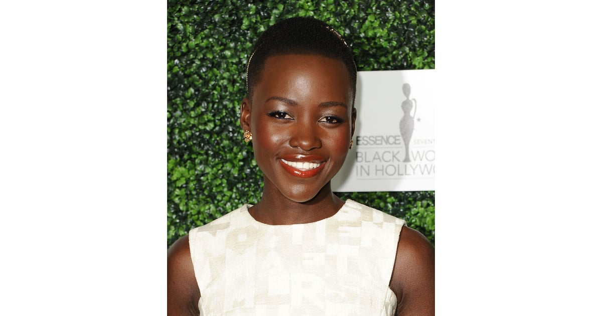 lupita nyong 39 o at essence 39 s black women in hollywood luncheon oscars 2014 preparties hair and. Black Bedroom Furniture Sets. Home Design Ideas
