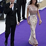 Kate Middleton turned heads in a Jenny Packham gown at the June 2011 ARK 10th gala in London.