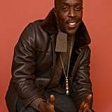 Michael K. Williams posed for a portrait for his new movie, They Die by the Dawn, at Sundance on Sunday.