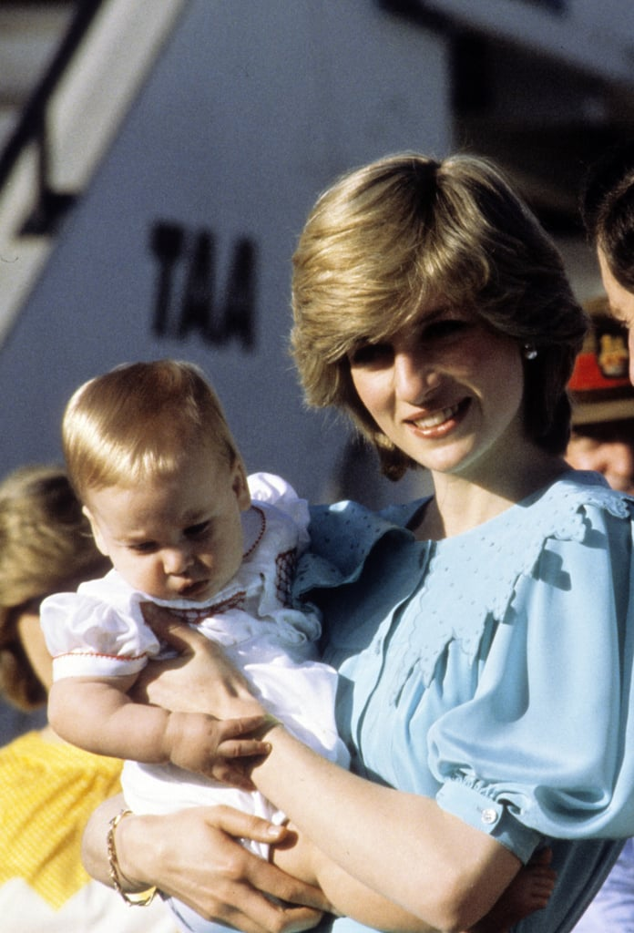 Princess Diana held onto Prince William during a March 1983 visit to Australia.